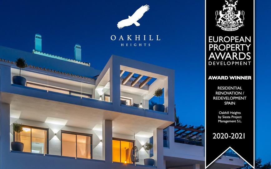 Siesta Homes' Oakhill Heights wins European Property Award 2020